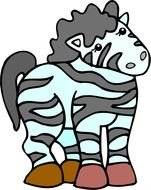 cartoon striped zebra