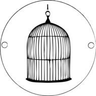 black Bird Cage Drawing