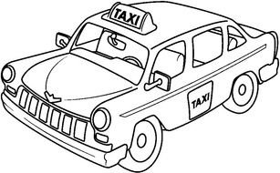 Taxi Coloring Pages For Kids drawing