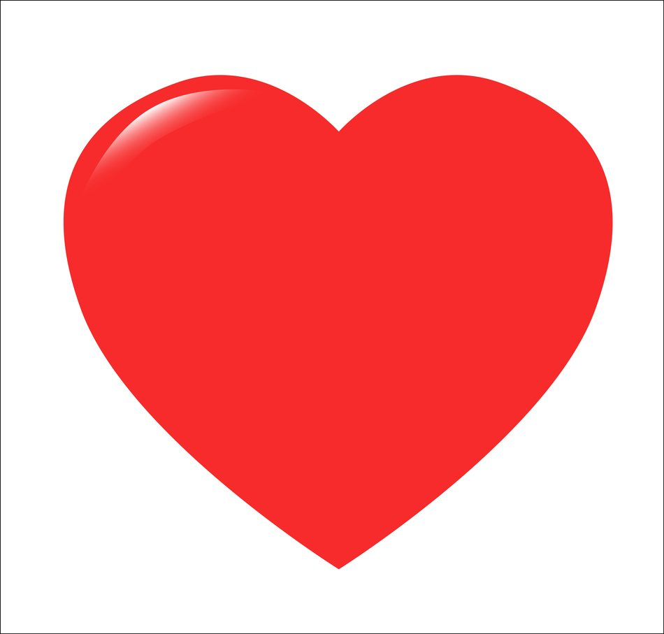 Red Heart white background
