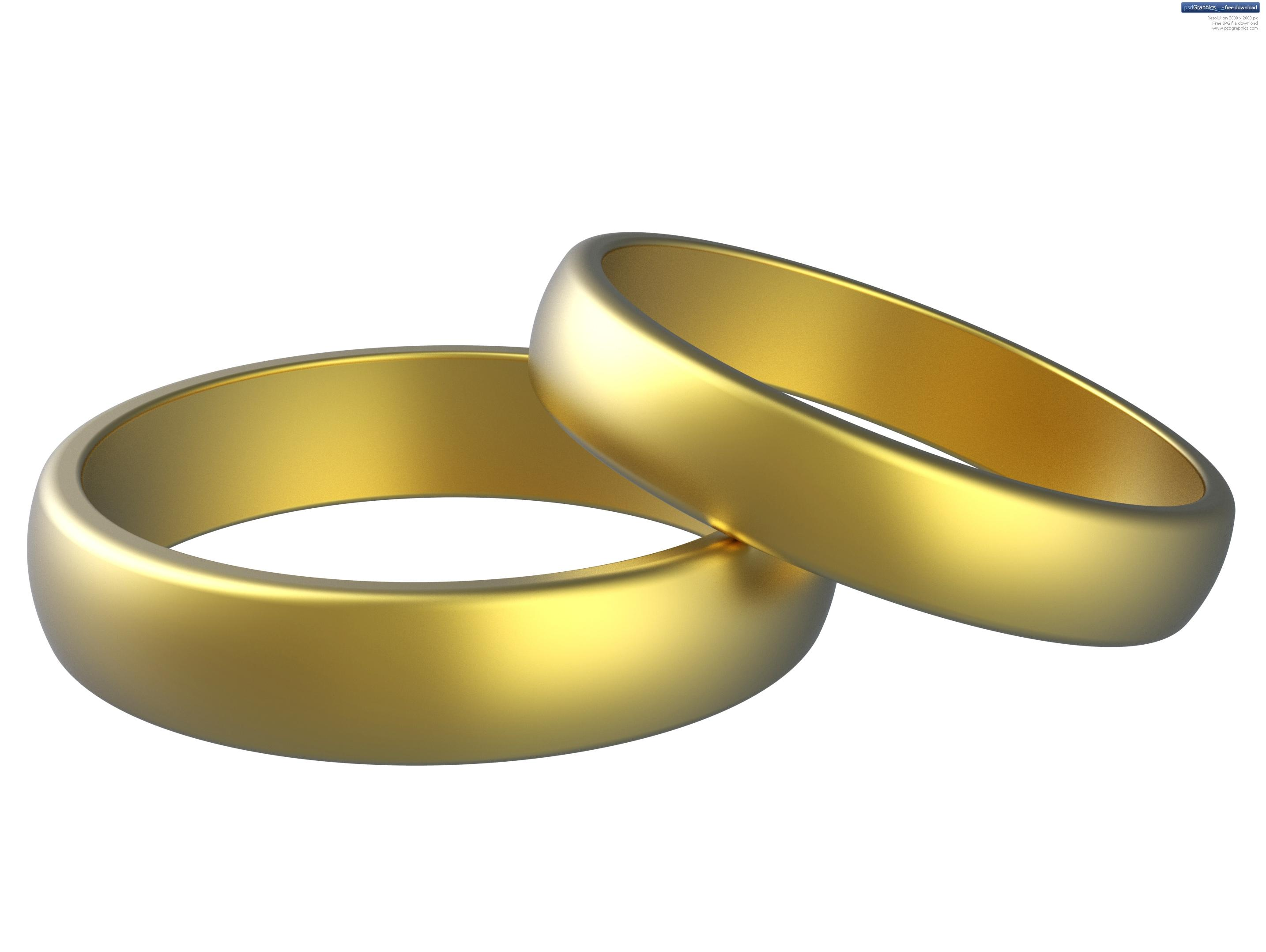 Golden Wedding Rings Clipart Free Image