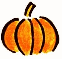 orange pumpkin as a drawing