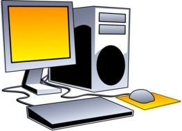Desktop Computer Clip Art drawing
