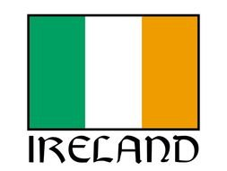 painted tricolor flag of Ireland