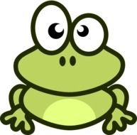 animated funny frog