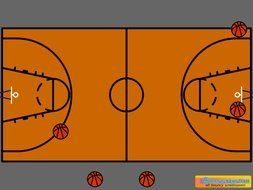 Vertical Basketball Court Clipart Free Image