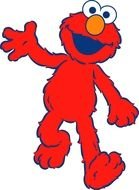 Sesame Street red Elmo drawing