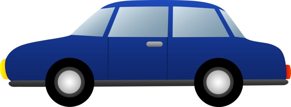 blue Cartoon Cars Clip Art
