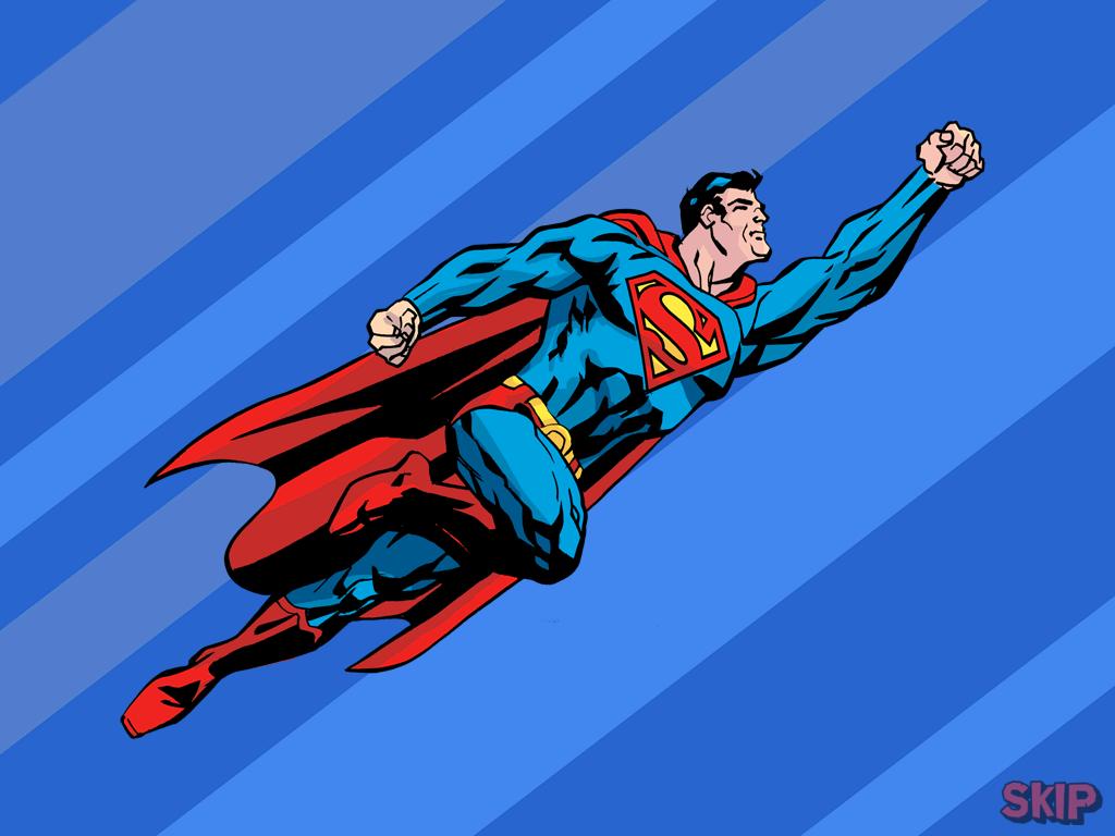 Супермен спешит на помощь фото