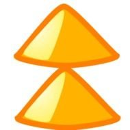 Colorful up arrows clipart
