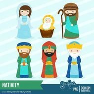 Clipart Christmas Birth Of Jesus Instant