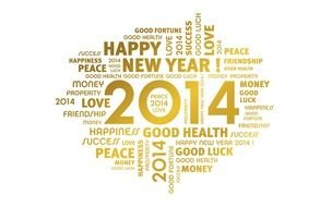 Wishes for Happy New Year 2014 clipart