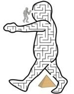 Clipart of Egyptian Mummy walking