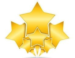 Six Yellow Stars clipart