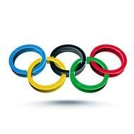 color Olympic Rings drawing
