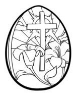 Christian Easter Egg Coloring Pages drawing