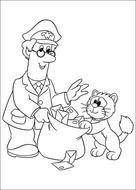 Postman Pat Colouring Pages