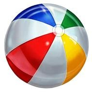 colorful beach ball as picture for clipart