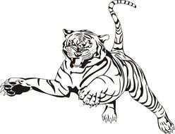 Clipart of dangerous Tiger