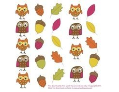 Autumn Owls drawing