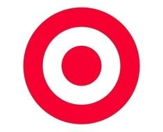 white and red target logo