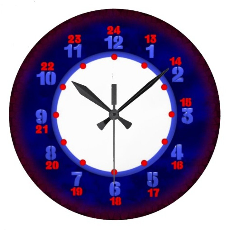 Military Time Clock >> Printable Military Time Clock Free Image