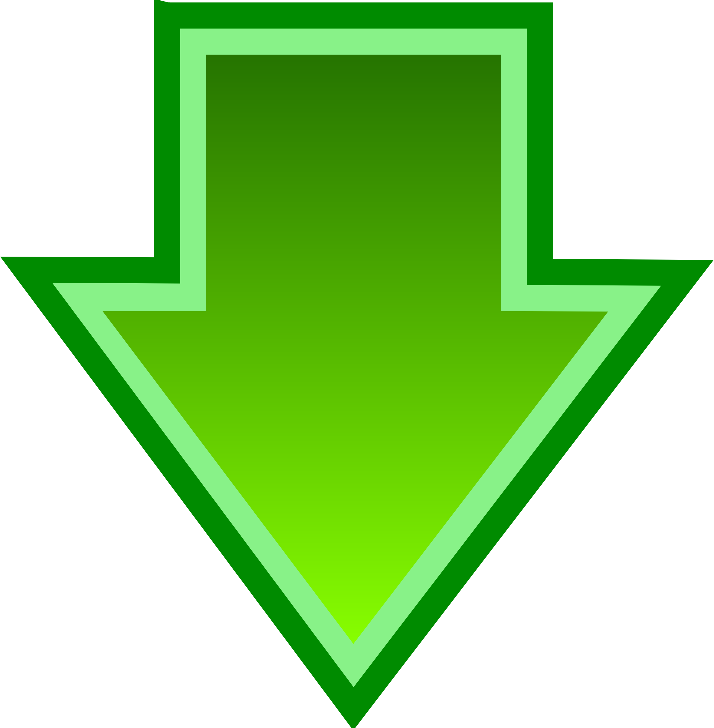 Green down arrow free image download