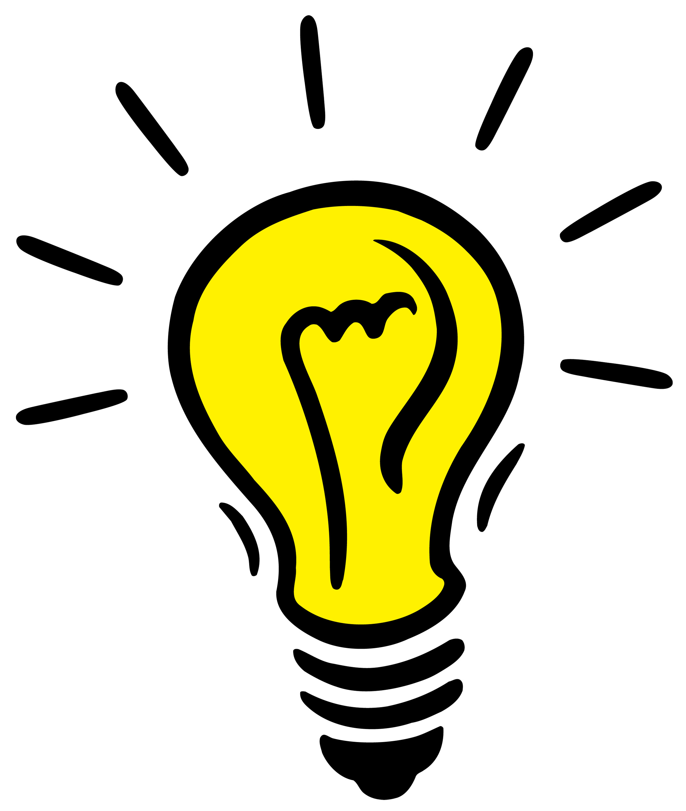 Bright Idea Light Bulb Clip Art N11