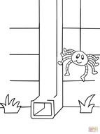 Itsy Bitsy Spider Coloring Pages drawing