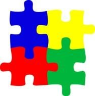 four colorful puzzles