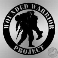 Wounded Warrior Project Vinyl Decal drawing