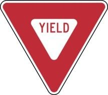 Yield Sign as a graphic illustration