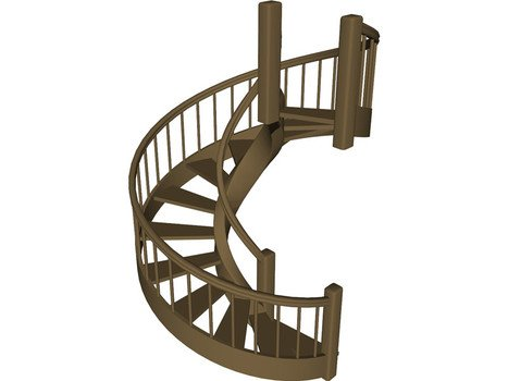 clipart of painted spiral staircase