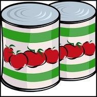 Clipart of Canned Food