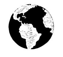 Black And White Globe Clip Art drawing