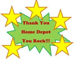 'Thank You Home Depot You Rock!!!' clipart