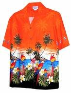 Clipart of Orange Hawaiian Shirt