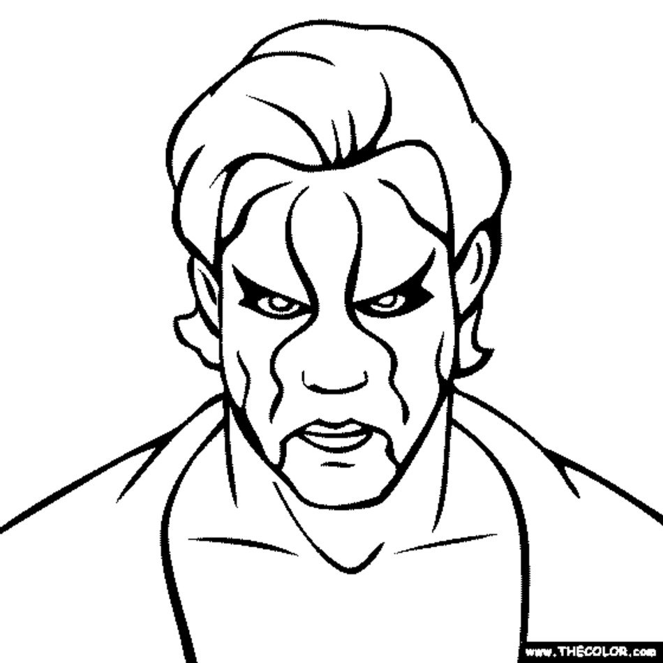 Sting WWE Coloring Pages Printables free image
