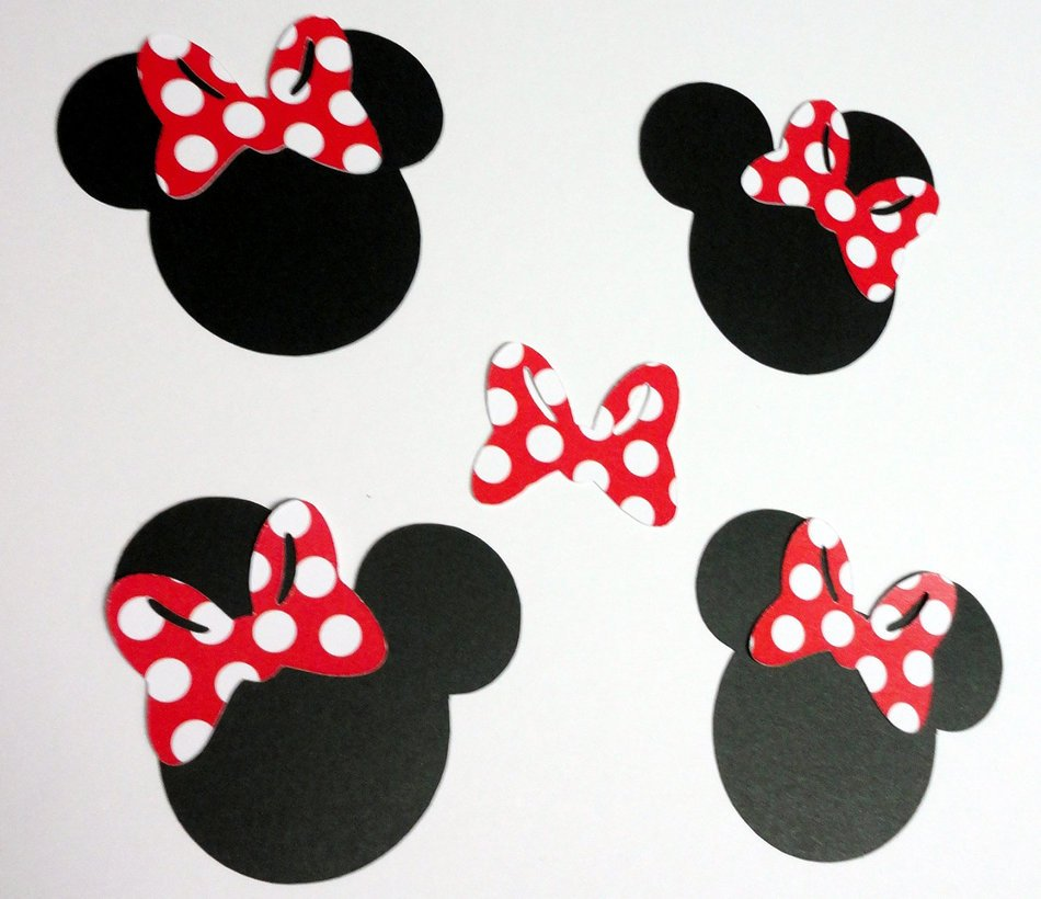 clipart of the Minnie Mouse Head Silhouettes