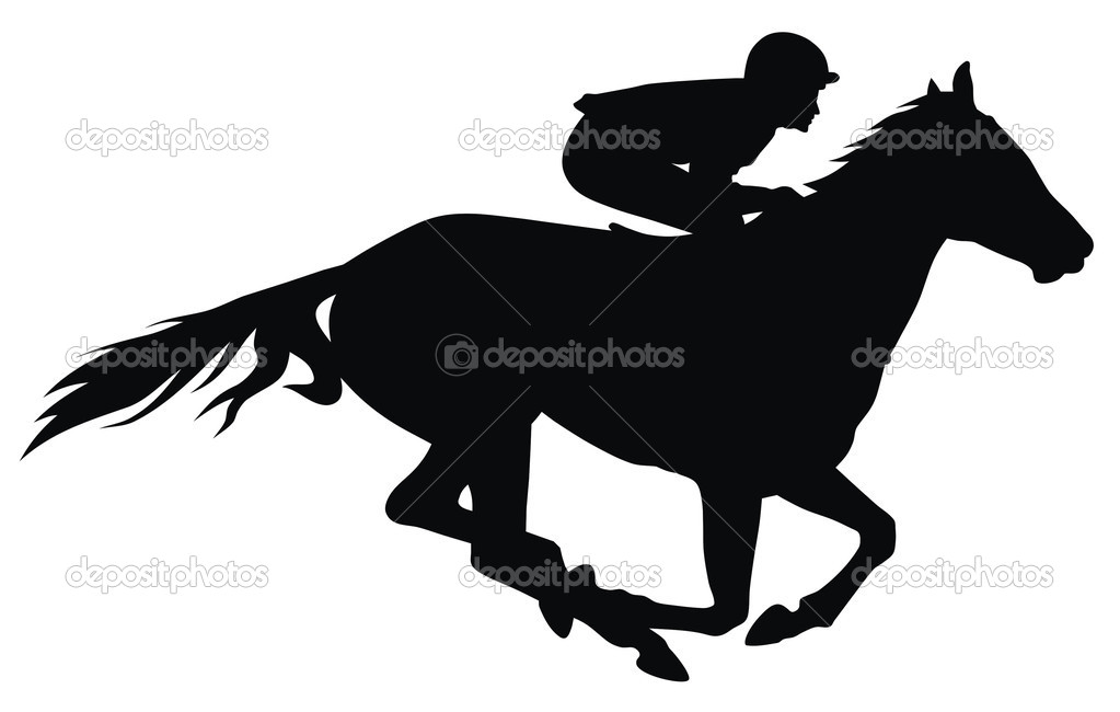 Race Horse Racing Clip Art N37