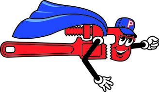red Pipe Wrench drawing
