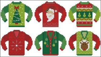 drawn christmas sweaters