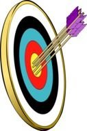 cartoon Target with Arrows, Clip Art