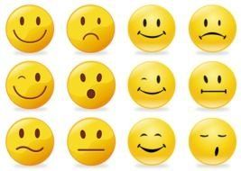 Smiley Faces Clip Art drawing