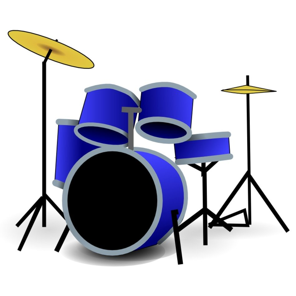 clipart of the blue drums