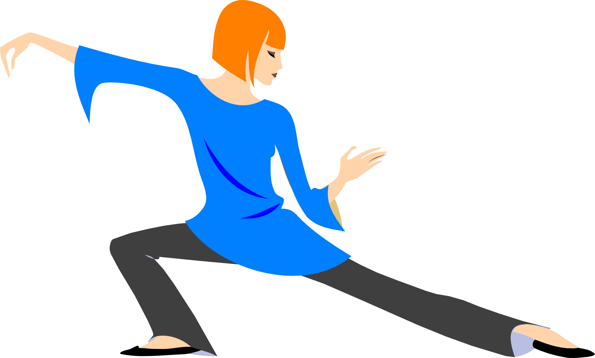 Woman Is Doing Yoga Clipart Free Image