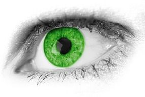 abstract beautiful green eye drawing