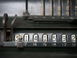 old-fashioned calculator