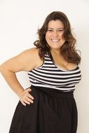 plus size model smiling