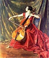 violin music woman playing
